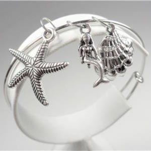 Jewelry - NAUTICAL MERMAID STARFISH SEA SHELL BRACELET
